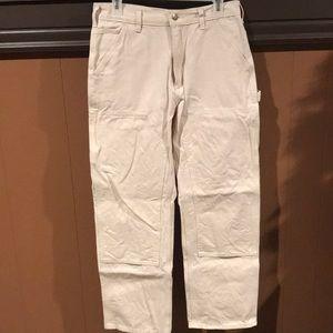 Carhartt White Canvas Pants 31x30